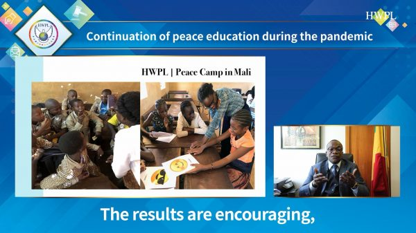 [hwpl] S.e Monsieur Oumar Keita Introducing The Results Of Peace Education During The Pandemic